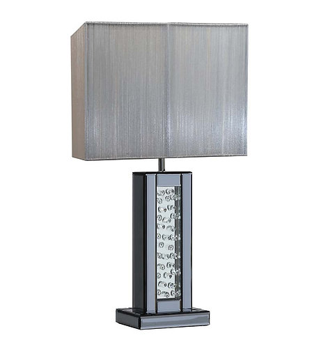 Floating Crystal Smoked Side Lamp
