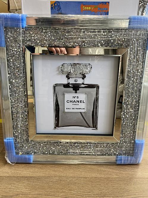 Chanel Bottle on Crushed Diamond Frame
