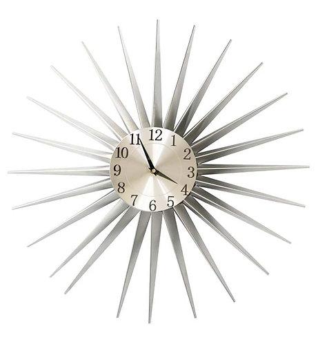 Champagne Metal Star Clock