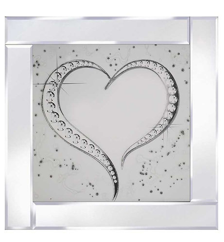 Heart on Mirrored Frame