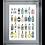 Thumbnail: A-Z of Gin on Chrome Stepped Frame 95x75cm