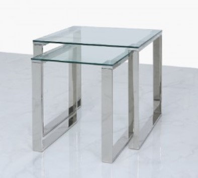 Halo Silver Nest of Tables