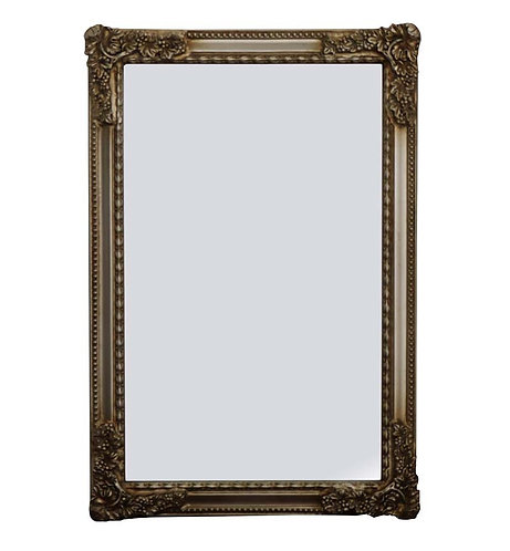 Champagne French Style Panel Mirror 90x60cm