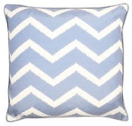 Blue ZigZag Cushion