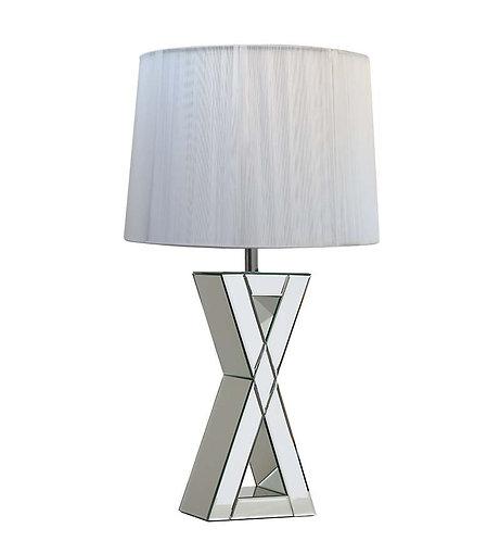 Mirrored X Lamp