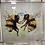 Thumbnail: 2 Bees on Venetian Frame 85x85cm