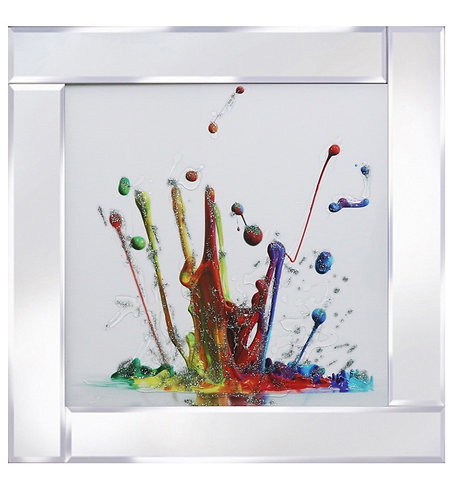 Coloured Splash on Mirrored Frame