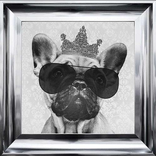French Bulldog with Crown 75x75cm