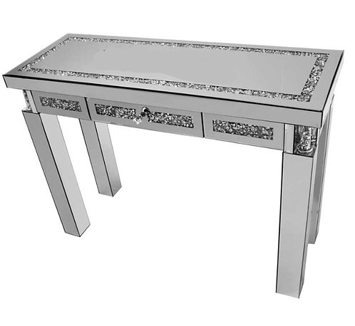 Crushed Diamond X Console Table