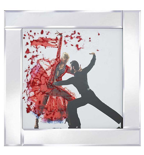 Dancing Partners on Mirrored Frame