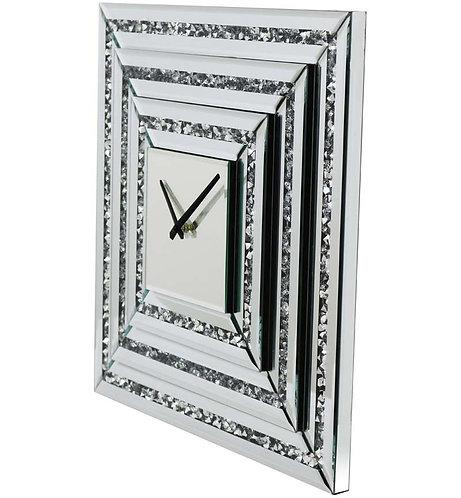 Crushed Diamond Square Wall Clock
