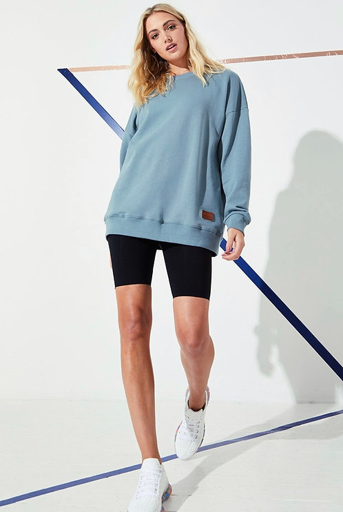 Blue Crew Neck Sweatshirt One Size