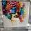 Thumbnail: La Rose on Chrome Stepped Frame 85x85cm