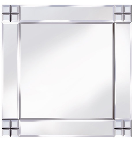 Classic Cross Corner Mirror 60x60cm