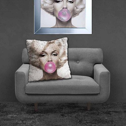 Marilyn Bubblegum Feather Filled Cushion 55x55cm