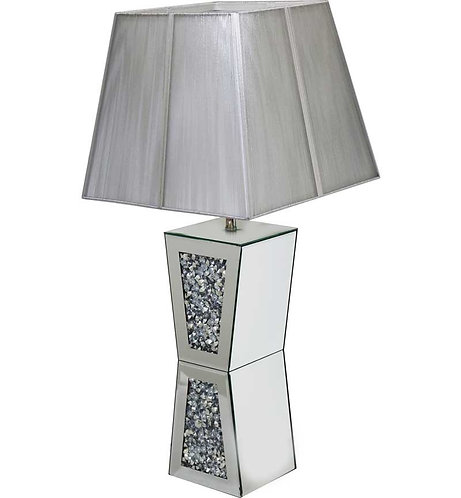 Crushed Diamond Plynth Lamp