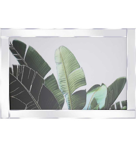 Leaves on Mirrored Frame