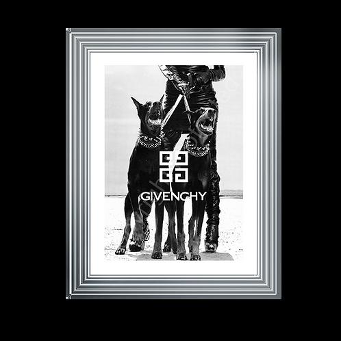 Givenchy on Chrome Stepped Frame 65x55cm