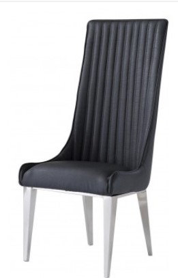 Grey High Back Dining Chair
