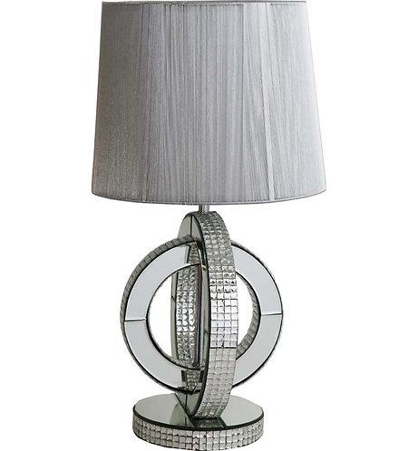 Chic Mirrored Hoop Lamp