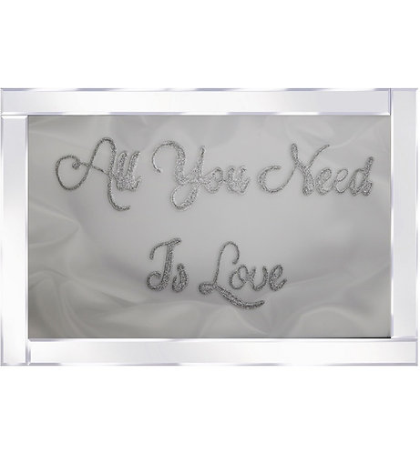 Need to Love on Mirrored Frame