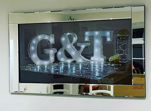 G&T on Mirrored Frame