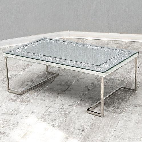 Crushed Diamond & Chrome Coffee Table