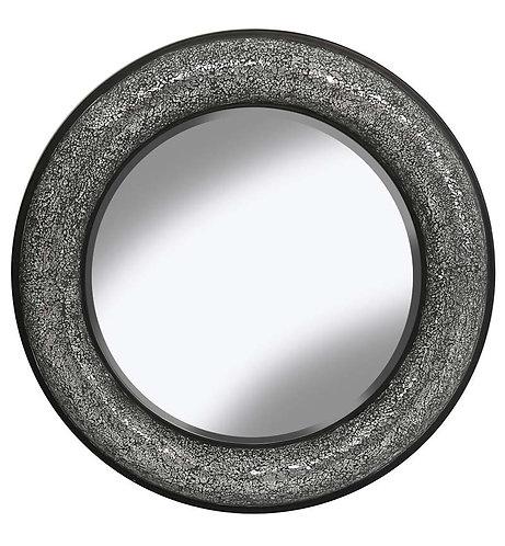 Black/Silver Round Bow Mirror 80x80cm