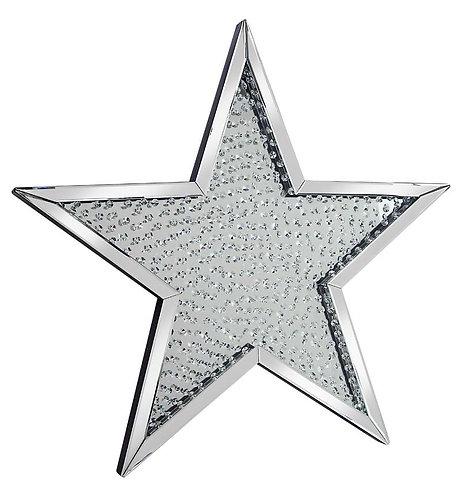 Floating Crystal Star Mirror 95x95cm