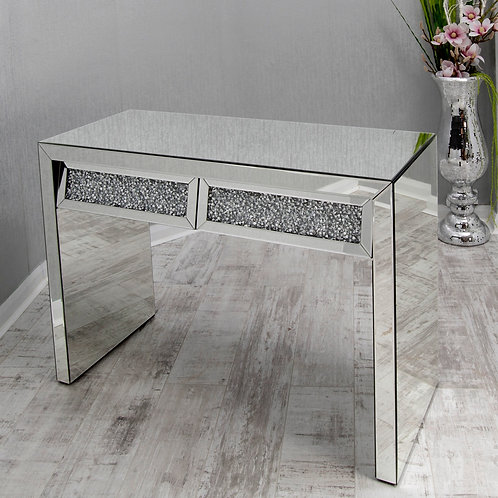Crushed Diamond 2 Drawer Console Table