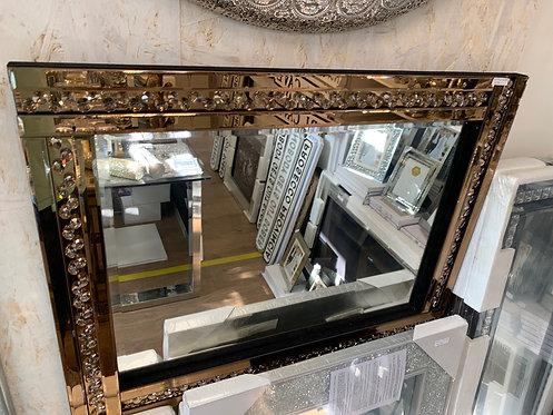Glitz Bronze Mirror 80x60cm