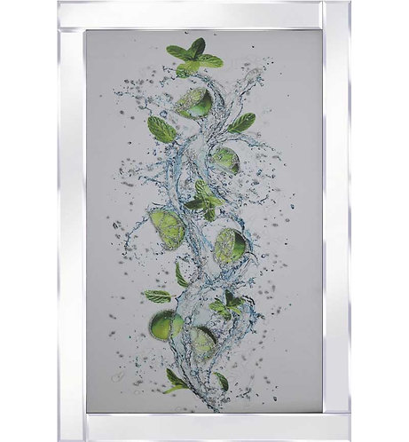 Lime & Mint on Mirrored Frame