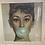 Thumbnail: Audrey Bubblegum on White Step Frame 55x55cm