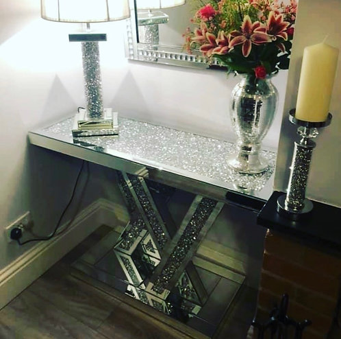 Crushed Diamond XX Console Table