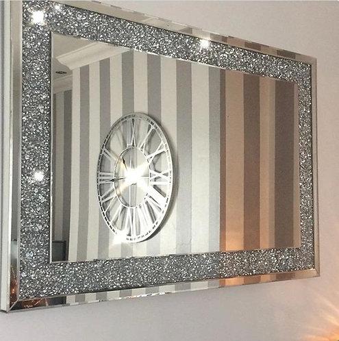 Crushed Diamond Mirror 90x60cm