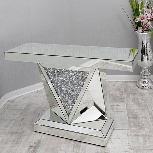 Crushed Diamond Console Table