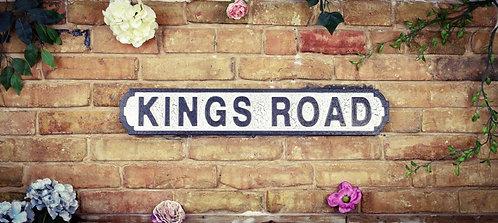Kings Rd Road Sign