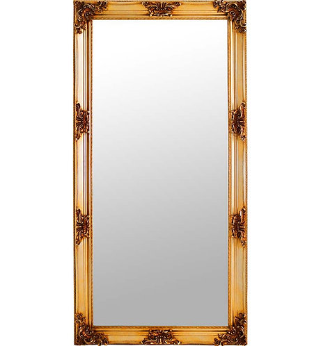 Gold French Style Mirror 180x90cm