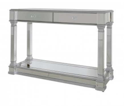 Olivia Silver 2 Drawer Console Table