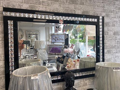 Black Crystal Mirror 120x80cm