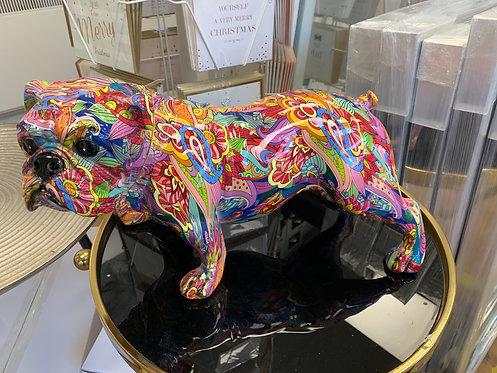 Multi Coloured Standing Bulldog