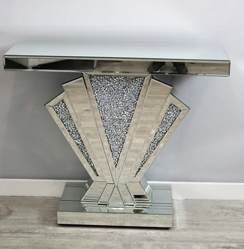 Crushed Diamond Fan Console Table