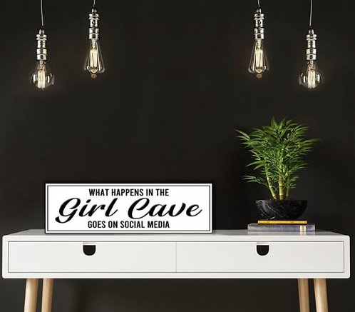 Girl Cave Hanging Sign