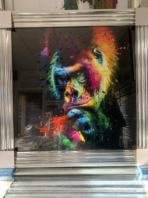 Great Ape on Chrome Step Frame 85x85cm