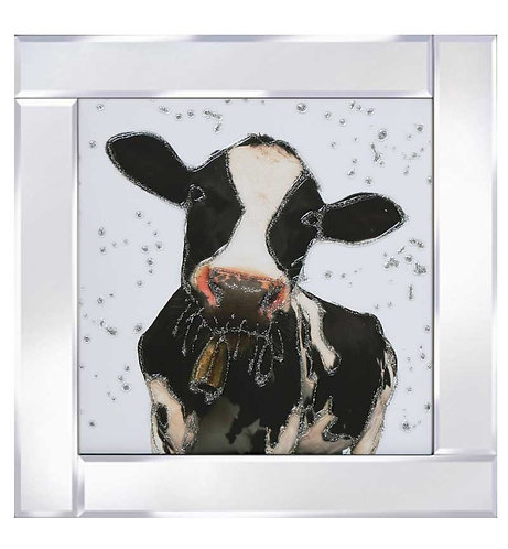 Cow on Mirrored Frame