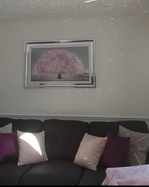 Blush Blossom Tree on Chrome Scoop Frame 115x75