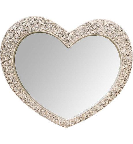 Cream Heart Mirror 110x90cm