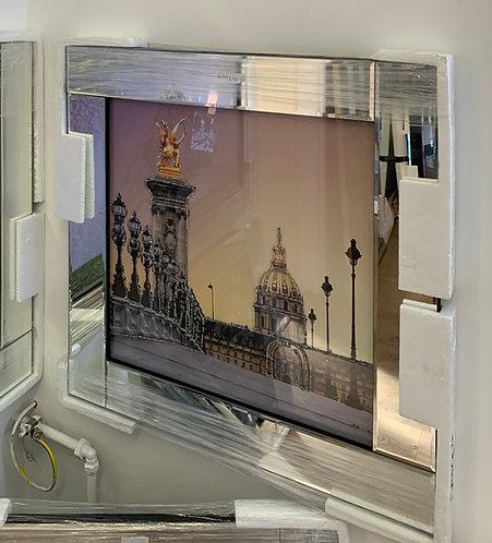 Les Invalides Paris on Mirrored Frame