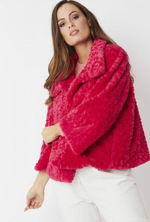 Cerise Pink Faux Fur Teddy Jacket