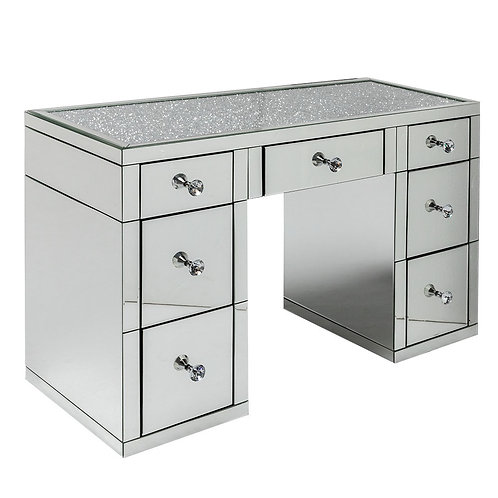 Crushed Diamond Top 7 Drawer Dressing Table